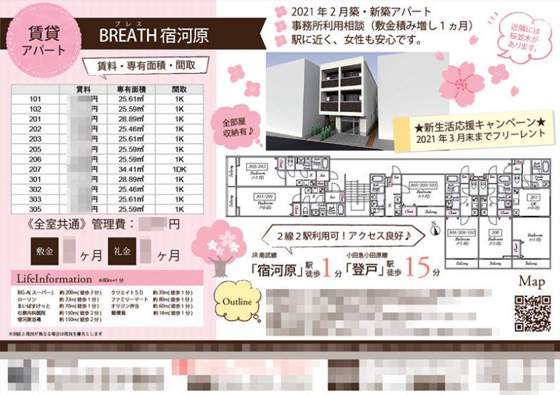 賃貸アパート マイソク(神奈川県川崎市多摩区)