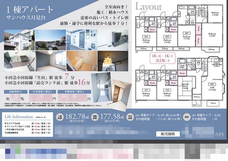 投資用1棟アパート マイソク(神奈川県川崎市多摩区)