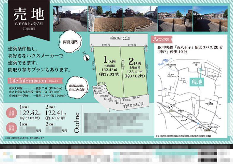 土地 マイソク(東京都八王子市)